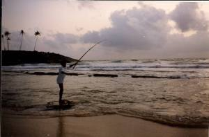 Fisherman at Bentota Beach in 1991