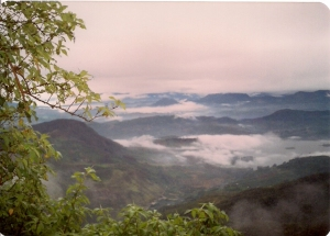 View from the top of Adam's Peak (Sri Pada), 1992