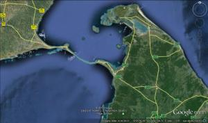 The Area he Crossed from Tamil Nadu to Sri Lanka