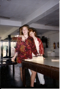 Diantha and Robyn in the Cafeteria Somewhere Between 1988 and 1993