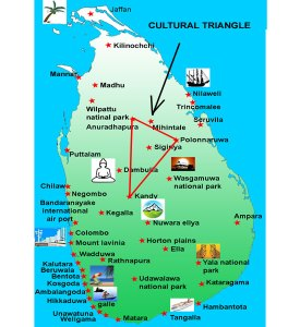 Map of the Cultural Triangle